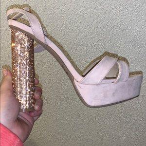 Rose gold/pink heels